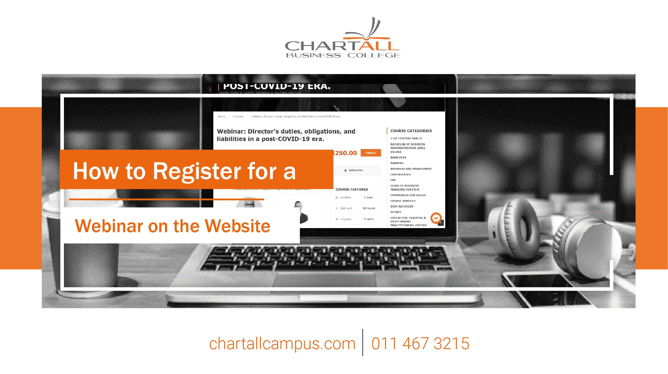 How to register for a webinar